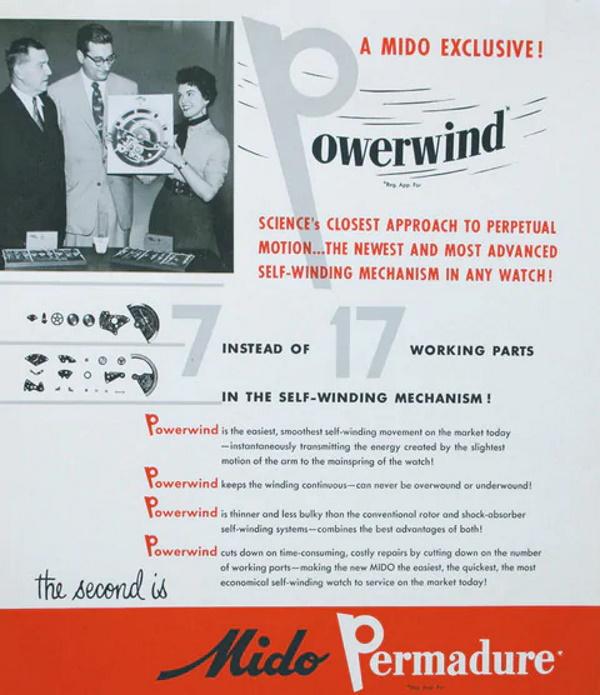 Powerwind bemutató anyag 1954-ből